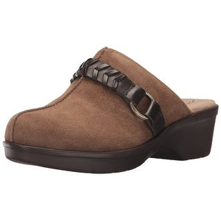 Easy Spirit Womens Pierson Leather Closed Toe Mules