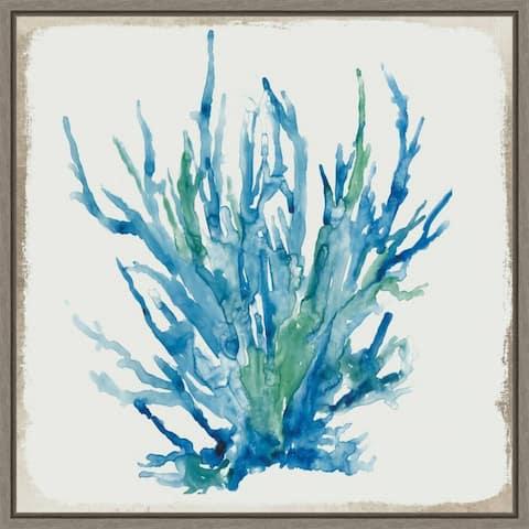 Blue Coral II by Aimee Wilson Framed Canvas Art