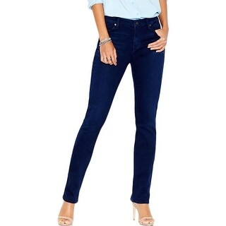 7 For All Mankind Womens Kimmie Straight Leg Jeans Stretch Slimming