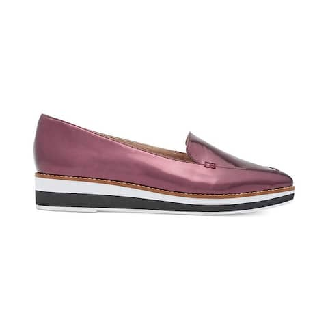 DKNY Womens Seaport platform Leather Pointed Toe Loafers