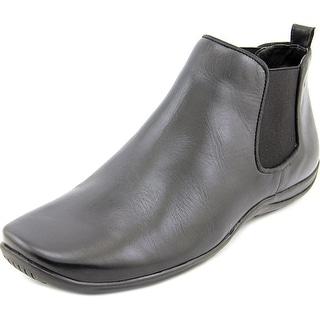 Walking Cradles Ante Women N/S Round Toe Leather Black Bootie