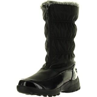 Totes Womens Rachel Winter Waterproof Snow Boots - Black