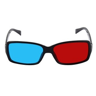 Plastic Frame Red-Cyan Movie 3D Dimensional 3D Glasses