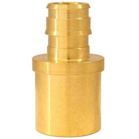 "Apollo EPXMS1234 Male Pipe Reducing Adapter, Brass, 3/4"" x 1/2"""