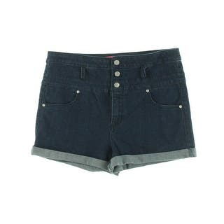 Tinseltown Womens Juniors Casual Shorts High Waist Cuffed|https://ak1.ostkcdn.com/images/products/is/images/direct/d20c5d0c26738fe2e550f9e12eeab8af9da8175b/Tinseltown-Womens-Juniors-High-Waist-Cuffed-Casual-Shorts.jpg?impolicy=medium