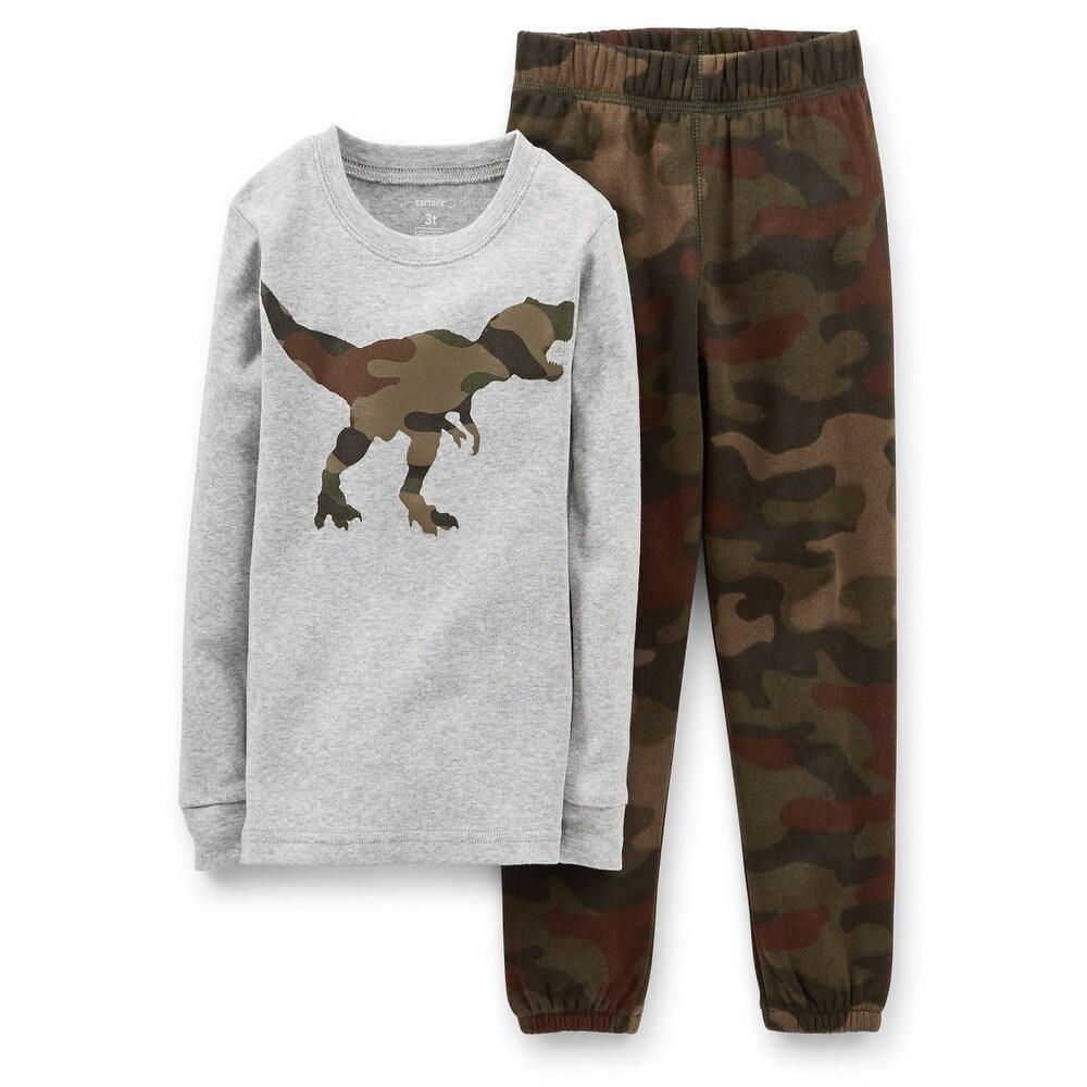 Carter/'s Boys Short Sleeve T-Rex Dinosaur Top//Sweatpants 2-Pc Set Multi