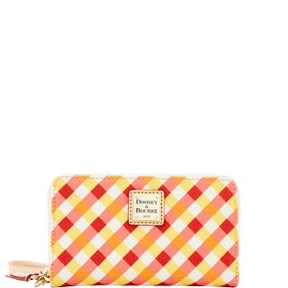 Dooney & Bourke Elsie Zip Around Phone Wristlet (Introduced by Dooney & Bourke at $108 in Apr 2016) - orange yellow