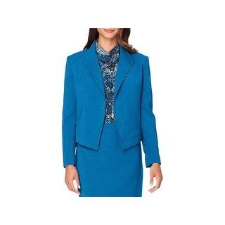 Tahari Womens Petites Blazer Wing-Collar Seamed