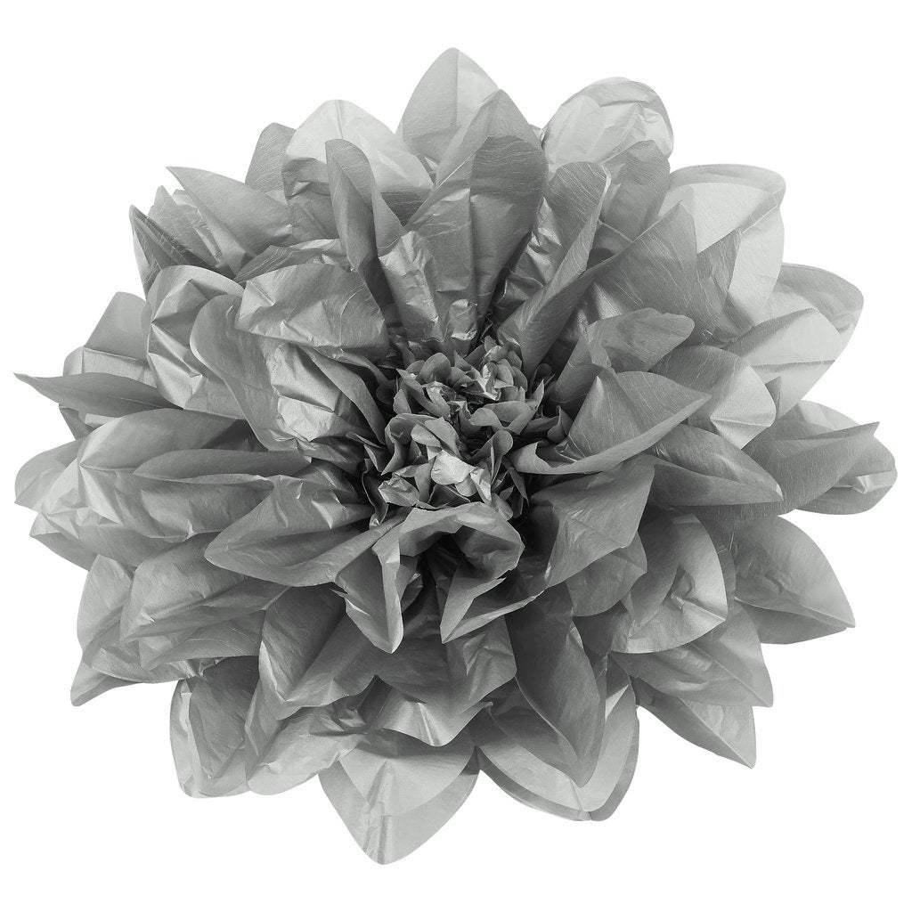 Shop 1 Pk Large Tissue Daisy Flower Wall Backdrop Decor 43cm Silver On Sale Overstock 31681057