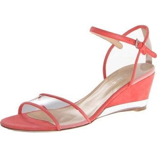Aquatalia by Marvin K. Womens Hailee Suede Clear Wedges - 9.5