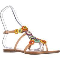 I35 Marstie Flat Strappy Sandals, Buff Tan