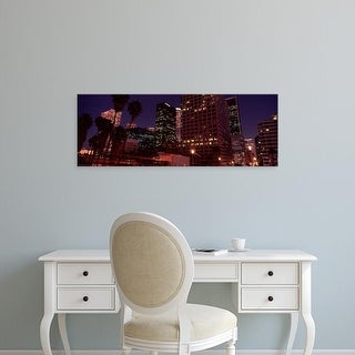 Easy Art Prints Panoramic Images's 'Buildings lit up at night, City of Los Angeles, California, USA' Canvas Art