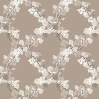Brewster 344-68755 Delphia Brown Jasmine Trellis Wallpaper - N/A