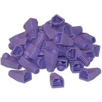 Offex RJ45 Strain Relief Boots, Purple, 50 Pieces Per Bag