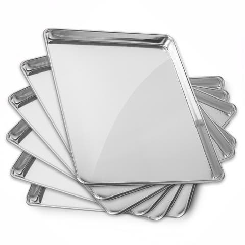 15 x 21 Inch 6-Pack, Commercial Aluminum Cookie Sheets by GRIDMANN - 15 x 21