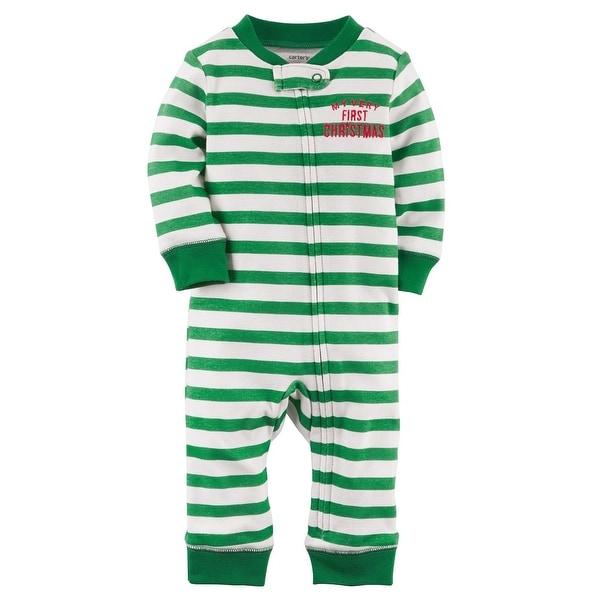 Shop Carter S Baby Boys Zip Up Christmas Cotton Sleep Play 3