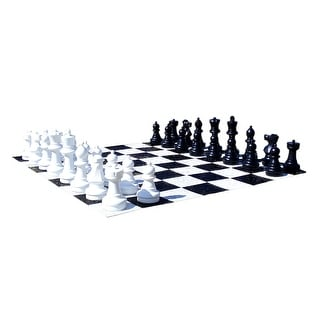 Outdoor Garden Chess Set 25 Inch Tall King W/ Board - Multicolored