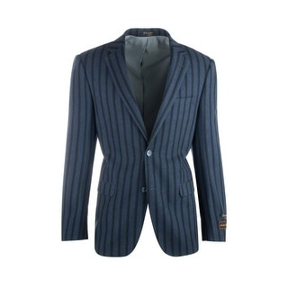 Link to Sangria Royal Blue with Navy and Green Stripes Pure Wool Jacket by Tiglio Luxe Similar Items in Sportcoats & Blazers