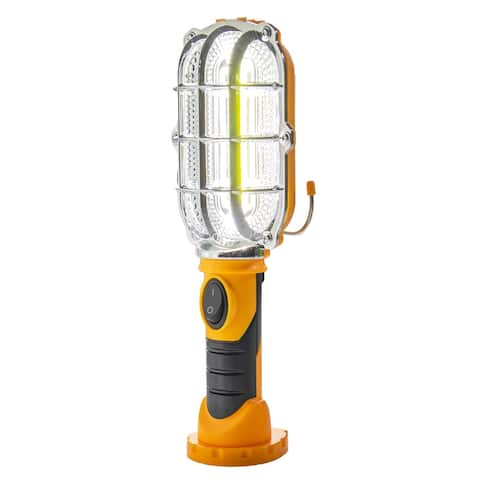 Handy Cordless Ultra Bright LED Work Light Magnetic Base Hands Free Emergency - Yellow