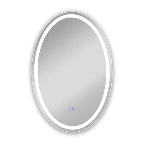 Frameless Back Lit LED Mirror - Silver