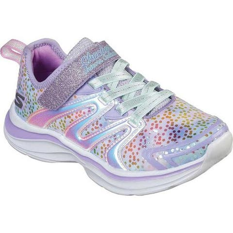 7db7e507b Skechers Girls' Double Dreams Unicorn Wishes Sneaker Lavender/Multi