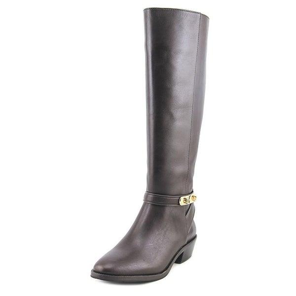 Coach Caroline Semi Matte Calf Chestnut Boots