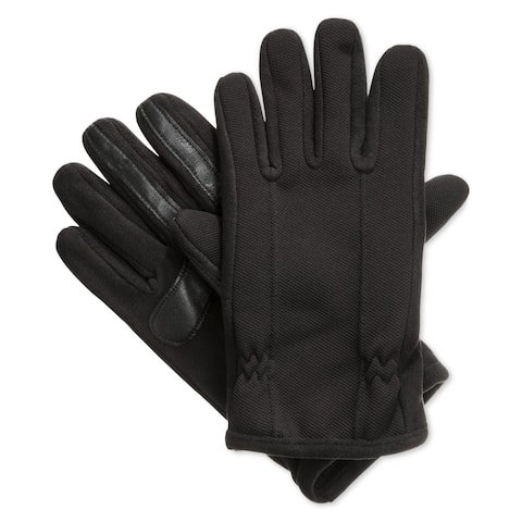 Isotoner Signature Black Men's Size Medium M smarTouch Winter Gloves
