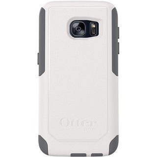 OtterBox Commuter Lightweight Protective Compact Case for Samsung Galaxy S7 - Non-Retail Packaging - Glacier White Gunmetal Grey