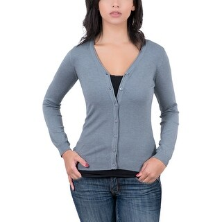 Real Cashmere Grey V-Neck Cardigan Womens Sweater
