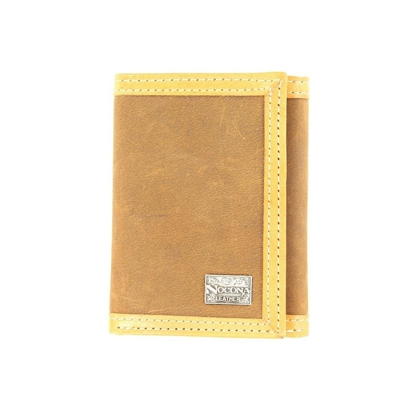 Nocona Western Wallet Mens Trifold Smooth Leather Tan - One size