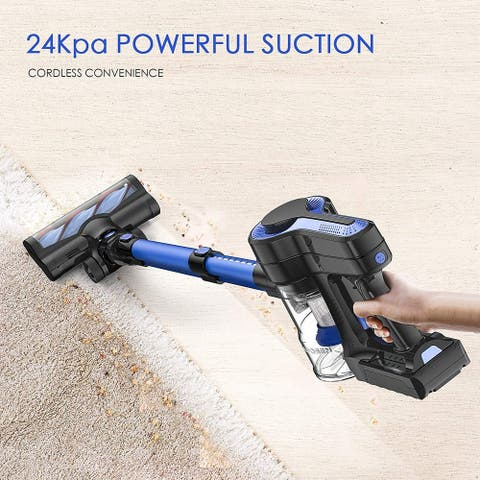 Cordless Vacuum Cleaner, 24KPa Powerful Suction 250W Brushless Motor 4 in 1 Stick Vacuum for Home Hard Floor Carpet Car Pet H250