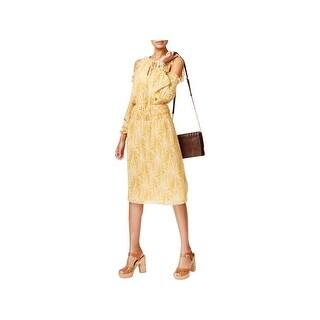MICHAEL Michael Kors Womens Petites Special Occasion Dress Cold Shoulder