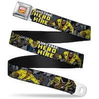 Marvel Comics Marvel Comics Logo Full Color Retro Luke Cage Hero For Hire Seatbelt Belt
