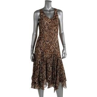 Lauren Ralph Lauren Womens Casual Dress Printed Handkerchief Hem