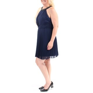 Womens Navy Above The Knee Sheath Cocktail Dress Size: 13
