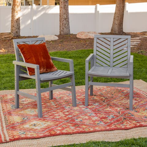 Elephant Point Chevron Chair, Set of 2, by Havenside Home