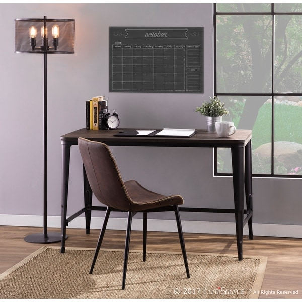Carbon Loft Omari Industrial Desk With Espresso Wood Top and Metal Frame. Opens flyout.