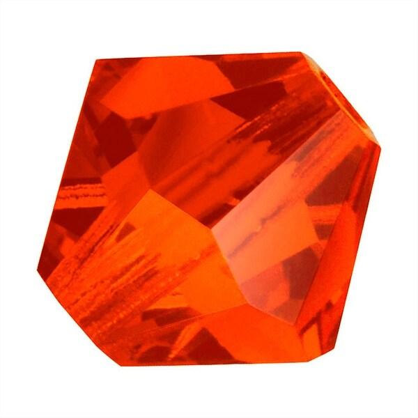 Preciosa Czech Crystal Beads 8mm Bicone 'Hyacinth' Orange (8)