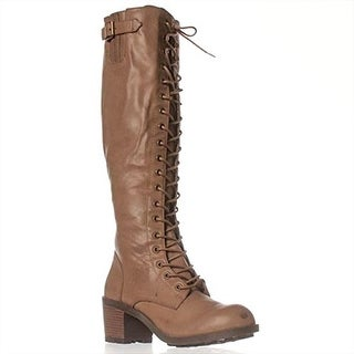Leila Stone Rooney Combat Boots - Taupe