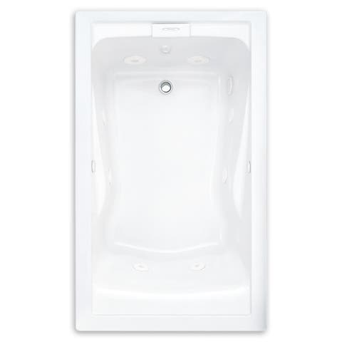 """American Standard 2422.VC Evolution 60"""" Acrylic Whirlpool Bathtub with Reversible Drain and EverClean Technology - Lifetime"""