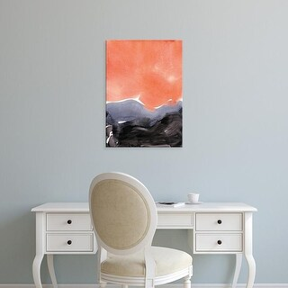 Easy Art Prints Iris Lehnhardt's 'Orange Blue Graphite' Premium Canvas Art