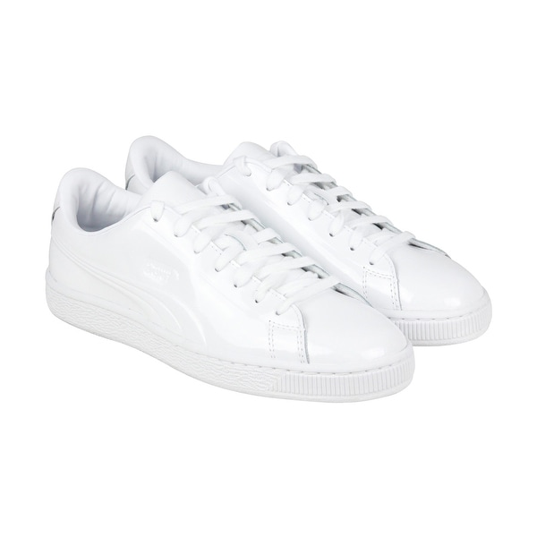 acf524a5072 Shop Puma Basket Classic Emboss Mens White Patent Leather Sneakers ...