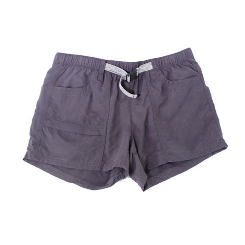The North Face Womens Shorts Charcoal Gray Size Medium M Buckle Pull-On