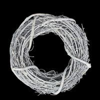 "10.5"" Country Rustic White Twig Artificial Christmas Wreath - Unlit"