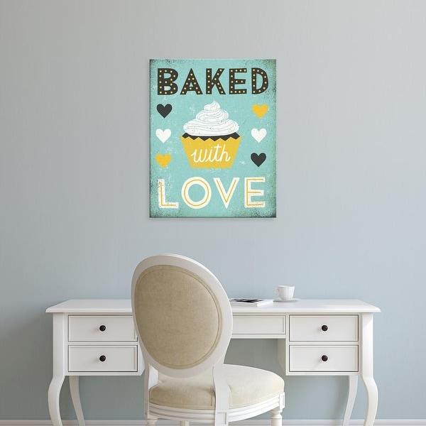 Easy Art Prints Michael Mullan's 'Retro Diner Baked with Love' Premium Canvas Art