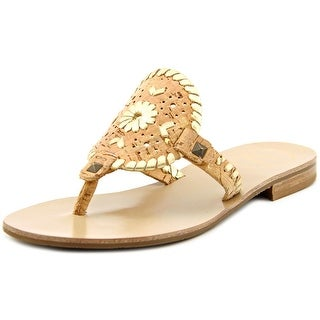 Jack Rogers Georgica Open Toe Leather Thong Sandal
