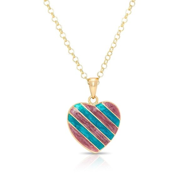 Lily Nily Girl's Striped Heart Pendant