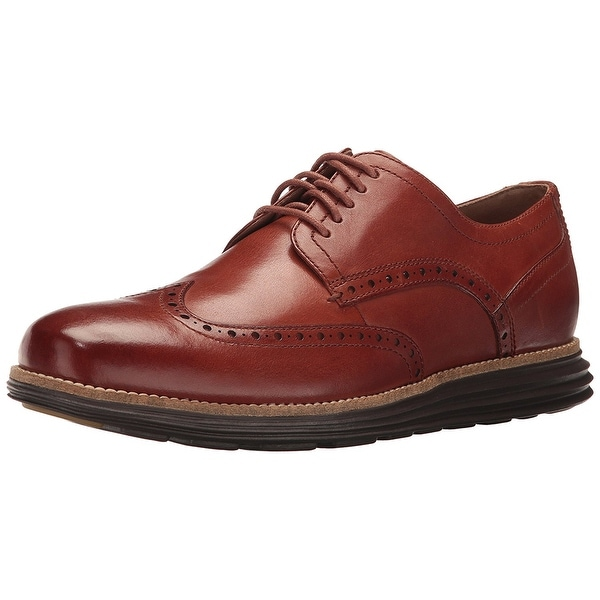 Cole Haan Men's Original Grand Shortwing Oxford, Woodbury/Java, Size 10.0 - 10