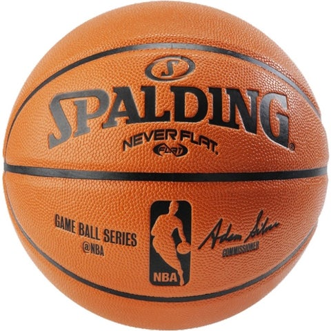 "Spalding 74872 29.5"" NeverFlat NBA Replica Composite Basketball"