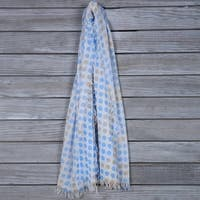Mad Style Blue Spotted Fringe Scarf - Blues